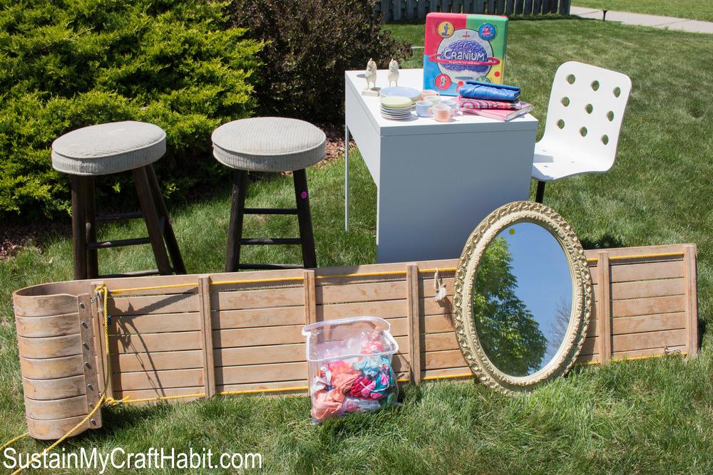 Yard sale finds- SustainMyCraftHabit.com