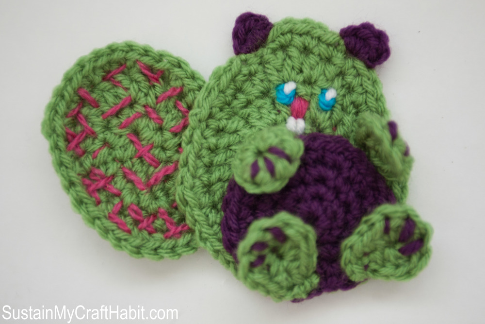 Baby Beaver Crochet Appliqué Free Pattern- SustainMyCraftHabit.com