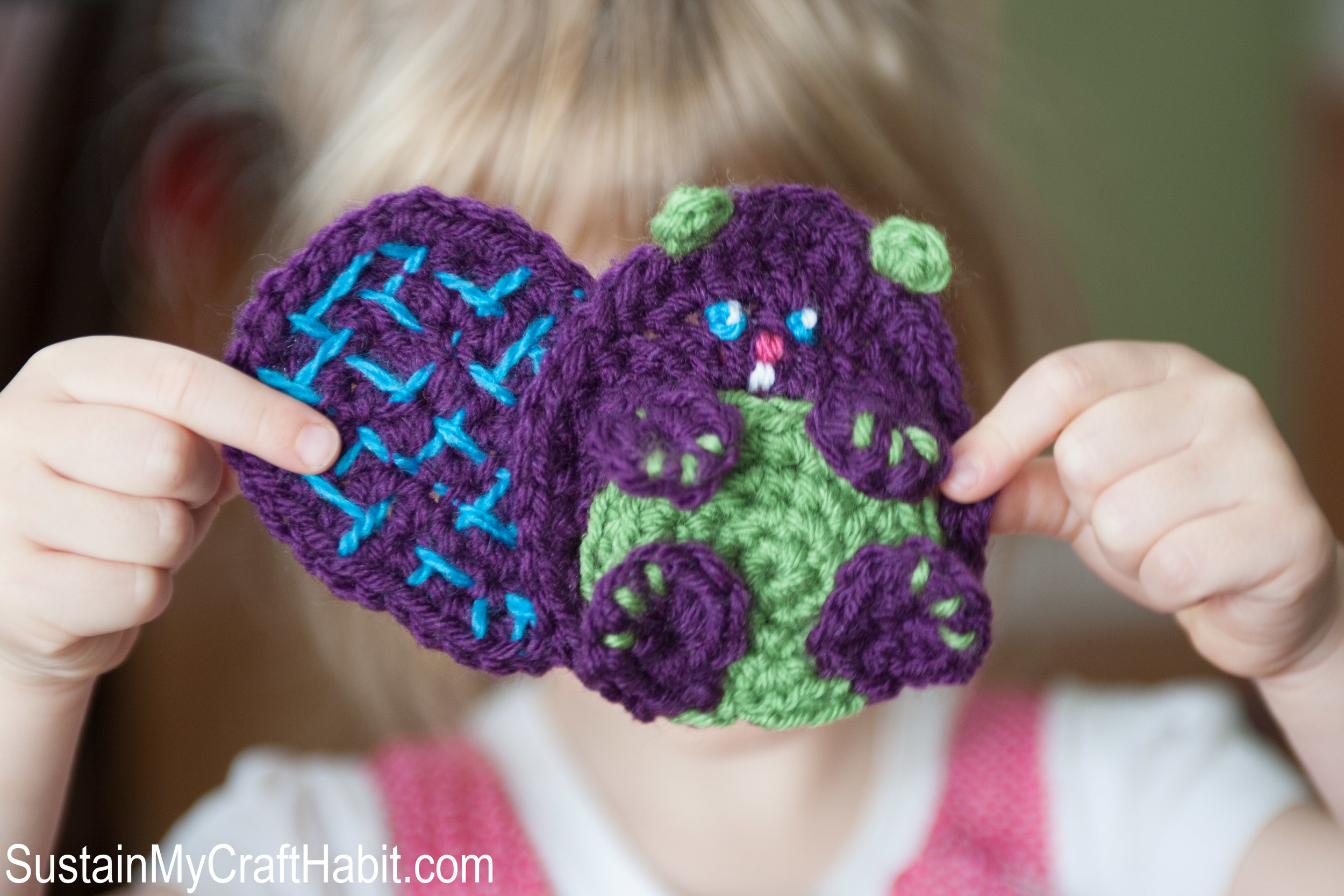 Baby Beaver Crochet Appliqué Pattern