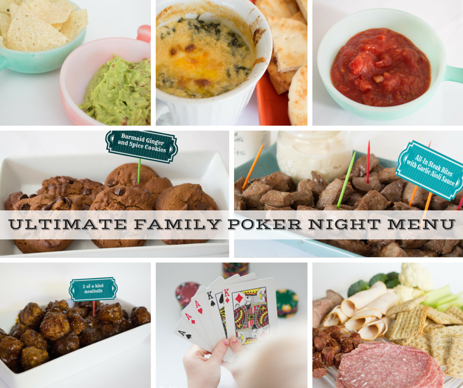 Family friendly poker night menu ideas-SustainMyCraftHabit.com