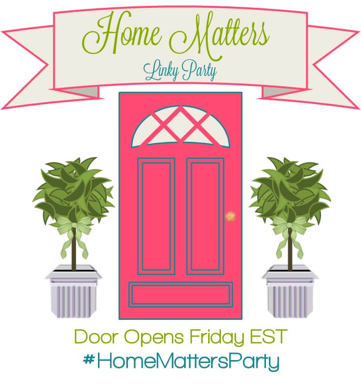 Home Matters linky party #49- SustainMyCraftHabit.com
