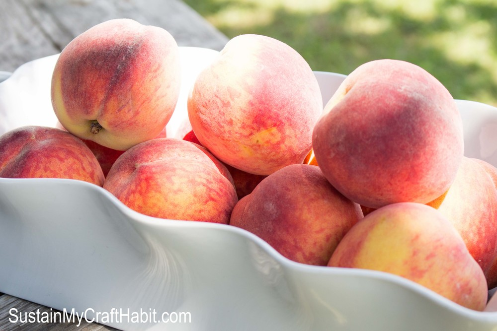 A delicious and refreshing peach beverage - SustainMyCraftHabit.com