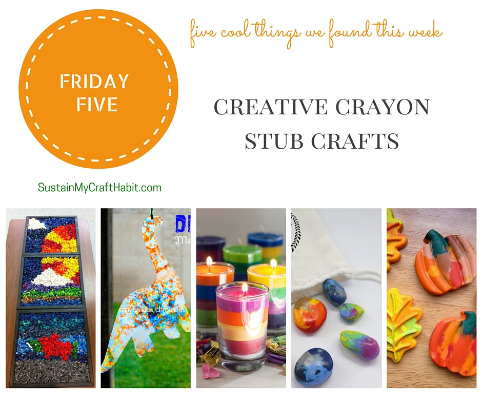 Five creative DIY crafts with crayons - SustainMyCraftHabit.com