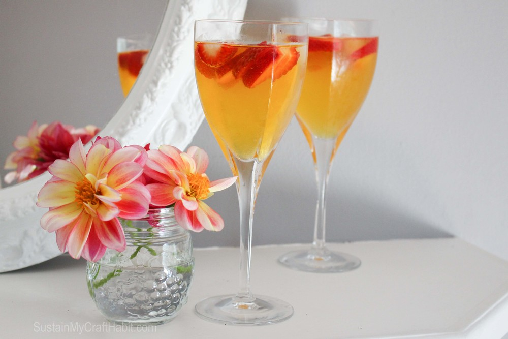 Luscious peach bellini- SustainMyCraftHabit.com
