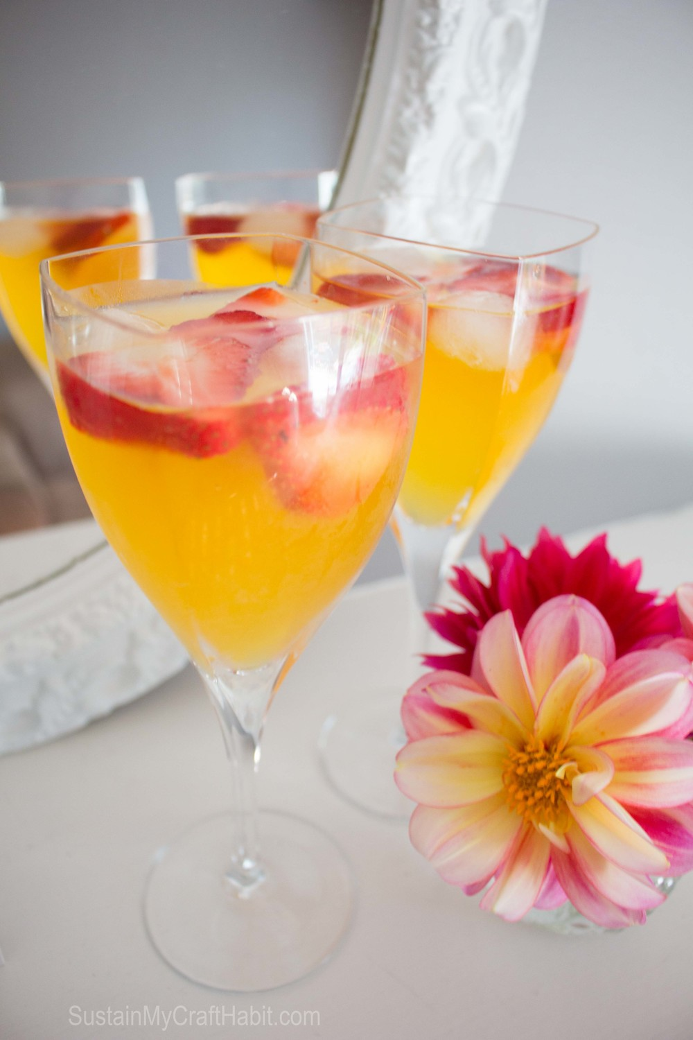 Luscious peach bellini-SustainMyCraftHabit.com