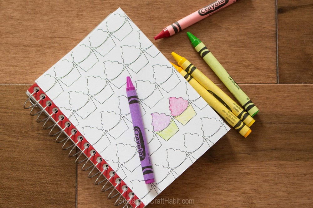 Souped up notebook coloring page - SustainMyCraftHabit.com