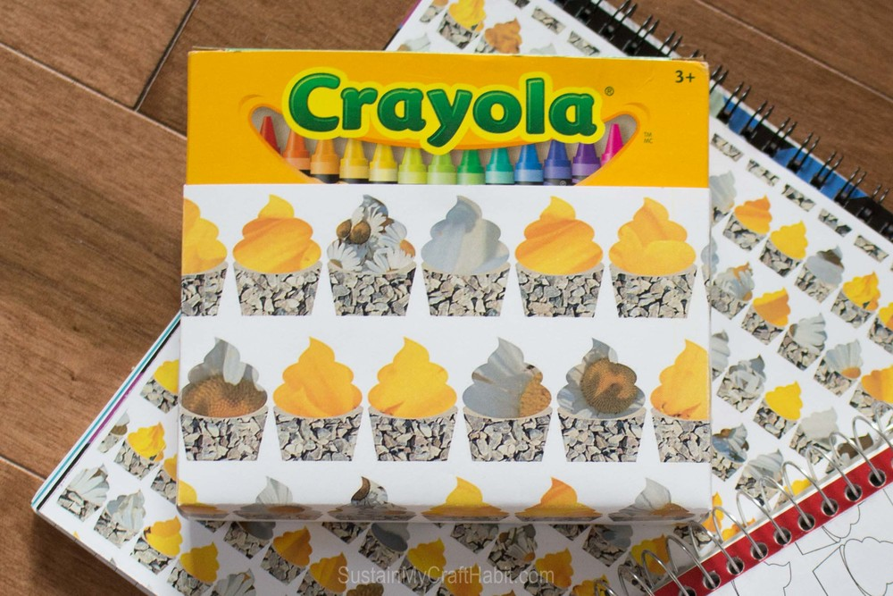 Souped up school supplies Crayola box - SustainMyCraftHabit.com