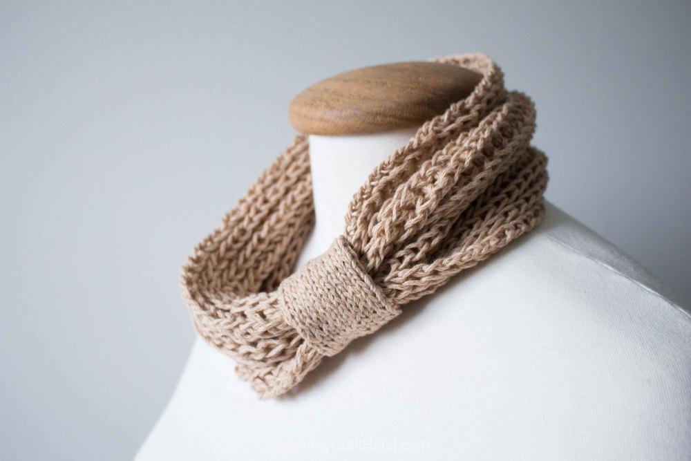 Knitted headband or neck warmer  - SustainMyCraftHabit-1572.jpg