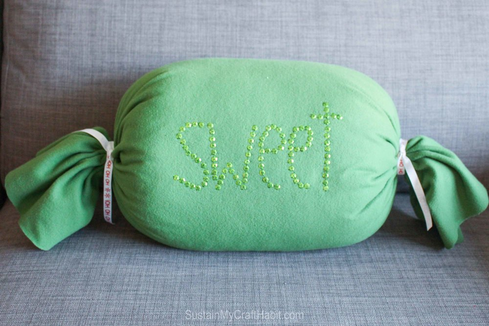 DIY No-Sew Sweet Candy Throw Pillow - great handmade gift idea - SustainMyCraftHabit-2051-2.jpg