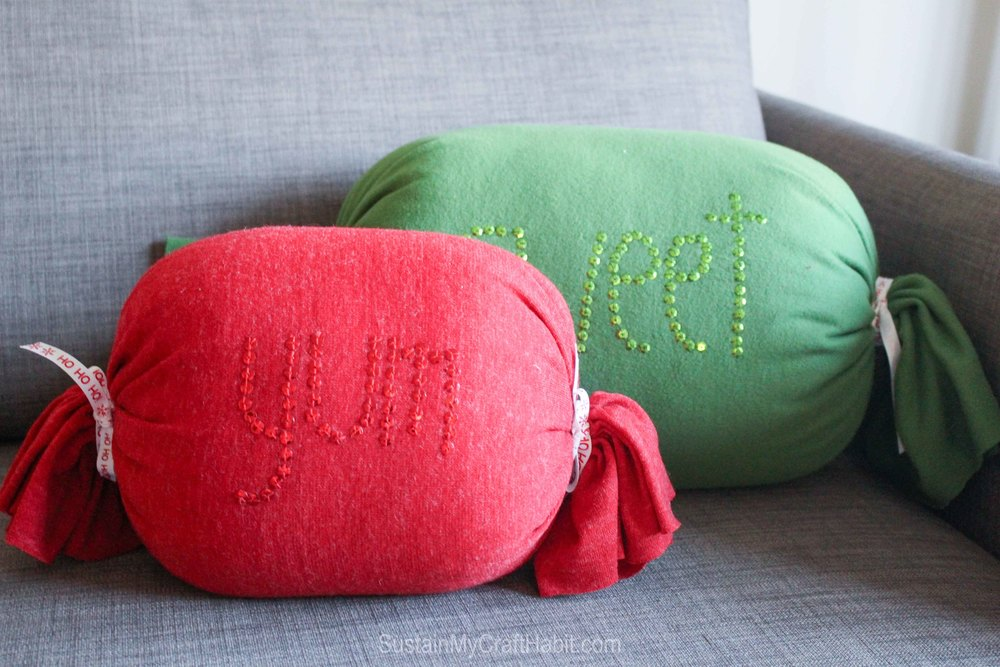 DIY No-Sew Sweet Candy Throw Pillow - great handmade gift idea - SustainMyCraftHabit-2056.jpg