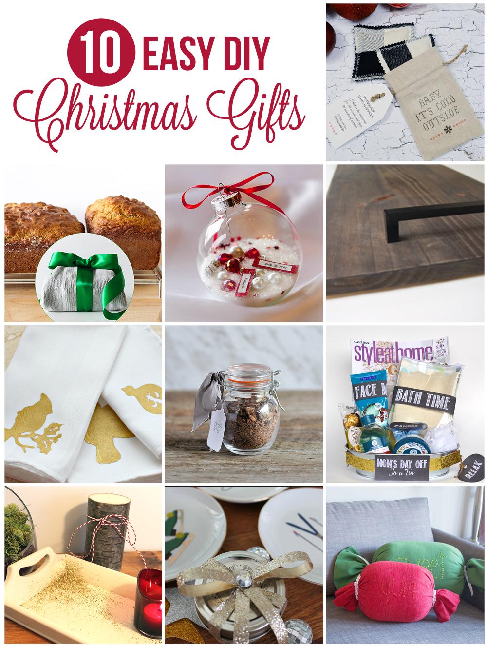 10 Easy DIY Christmas Gift Ideas Blog Hop - SustainMyCraftHabit
