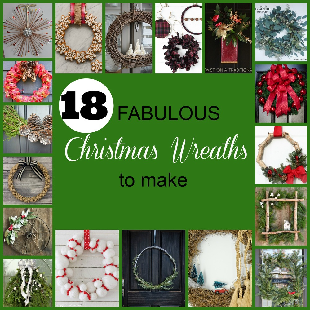 Find 18 unique fabulous DIY winter and Christmas wreaths through this fun blog hop..