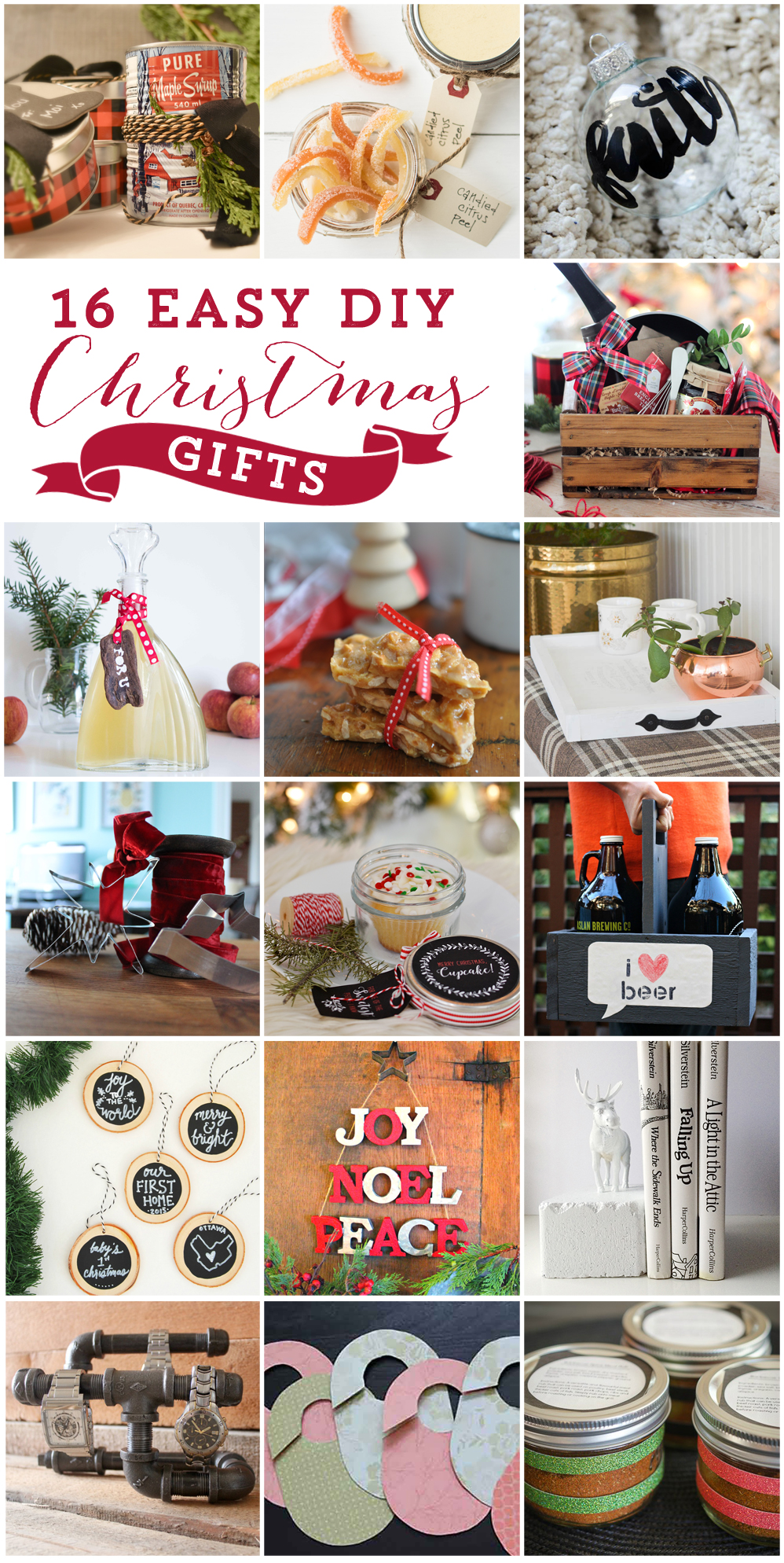 16 easy DIY Christmas gifts from favourite Canadian bloggers just in time for the holidays via @SustMyCraft.