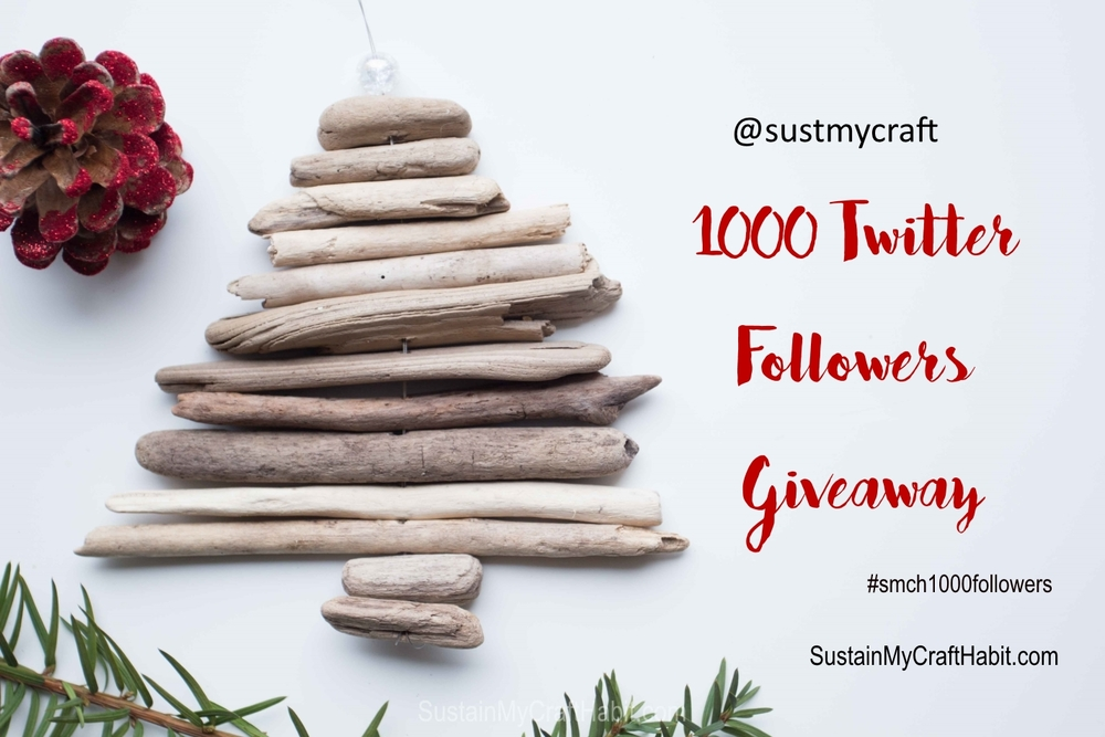 Sustain My Craft Habit 1000 Twitter Follower Giveaway @sustmycraft