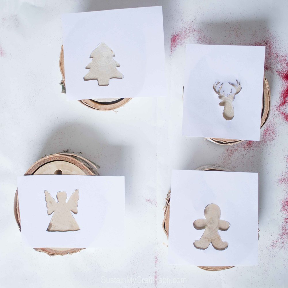 Christmas character embossed birch branch slice ornaments - SustainMyCraftHabit -7050.jpg