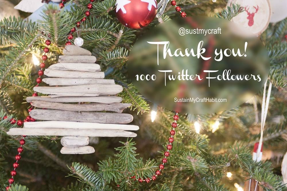 Sustain My Craft Habit 1000 Twitter Follower Celebration