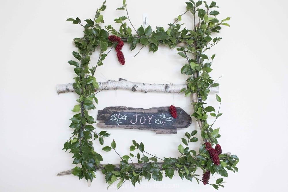 Make a whimsical and wispy square wreath with holly branches - SustainMyCraftHabit -7038.jpg