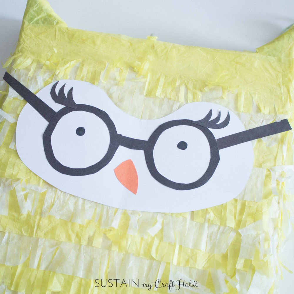Make an adorable owl pinata from a cereal box-5212.JPG