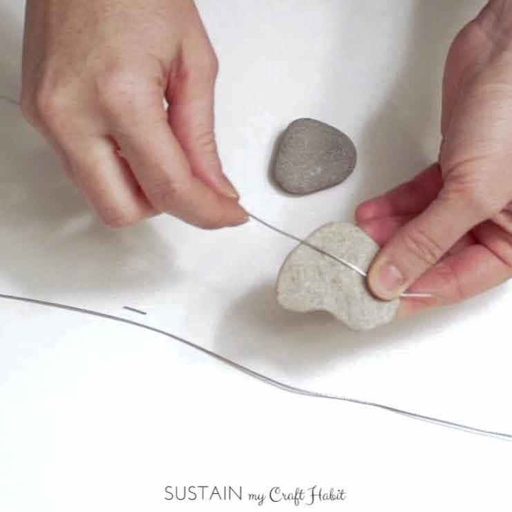 Heart of stone nautical DIY mobile - SustainMyCraftHabit-1-5.JPG