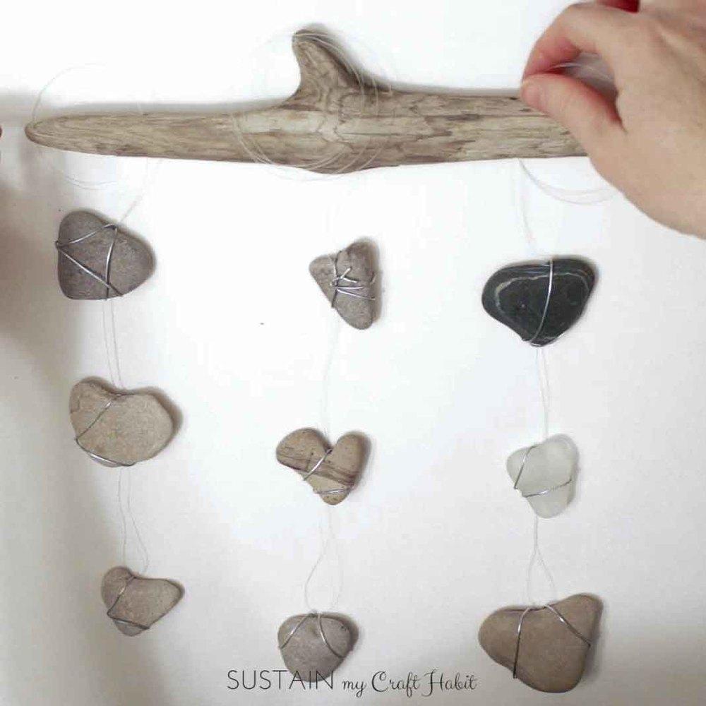 Heart of stone nautical DIY mobile - SustainMyCraftHabit-1-3.JPG