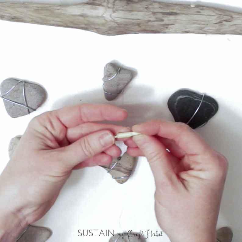 Heart of stone nautical DIY mobile - SustainMyCraftHabit-2-3.JPG