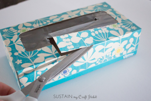 Upcycled tissue box idea