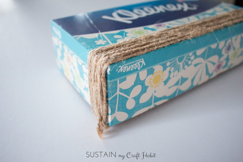Upcycled tissue box idea
