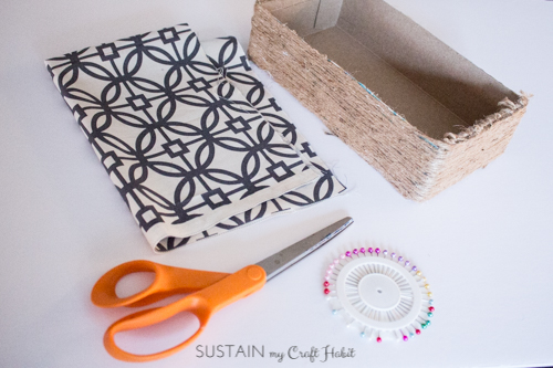 Materials for upcycled DIY storage box