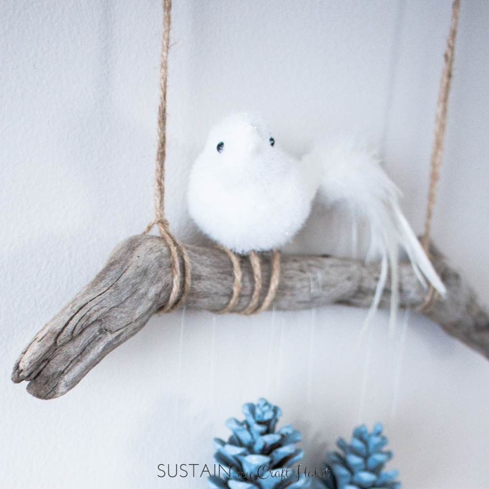 DIY Wall Art Rustic Pinecone Wall Hanging  Sustain My Craft Habit - Diy wall decor birds