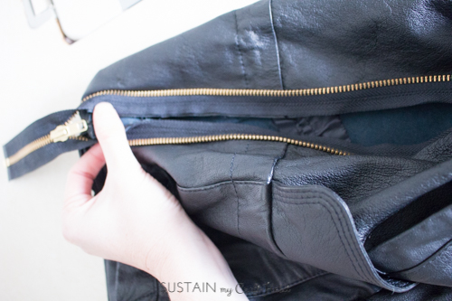 Thrift store leather jacket upcycled purse-4216.JPG