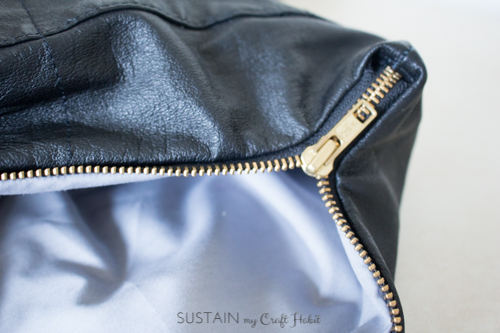 Thrift store leather jacket upcycled purse-4225.JPG