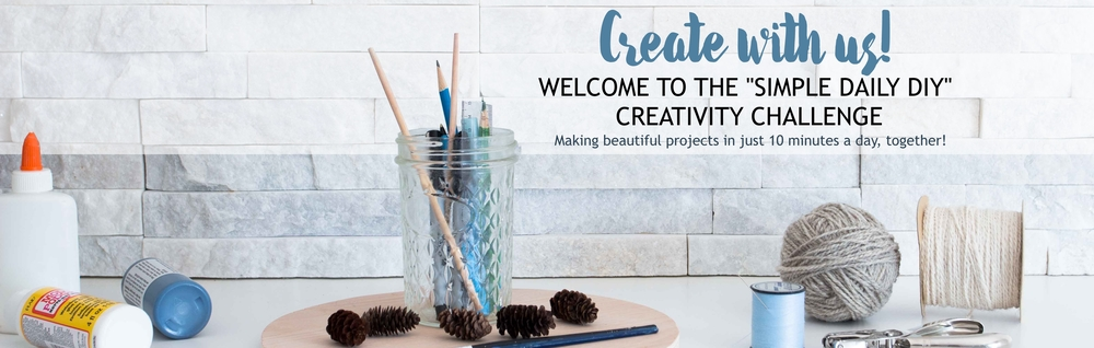 Unleash your natural creativity in just 10 minutes a day! Join Sustain my Craft Habit's #SimpleDailyDIY 15-Day Creativity Challenge. Let's create together!