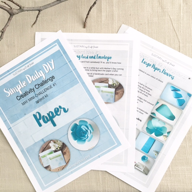 Simple Daily DIY mini-challenge project kit - SustainMyCraftHabit