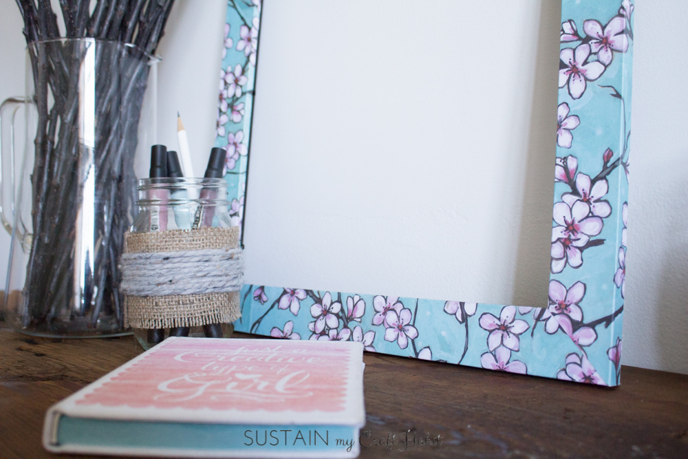 Give a new look to old or outdated photo frames using decorative scrapbook paper and Mod Podge. Step-by-step instructions are included for this simple DIY home decor upcycling idea.
