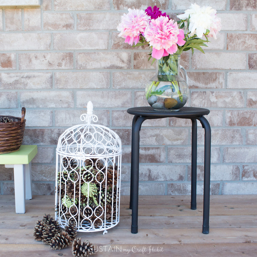 spray painting ideas: upcycling outdoor decor for #12monthsofdiy