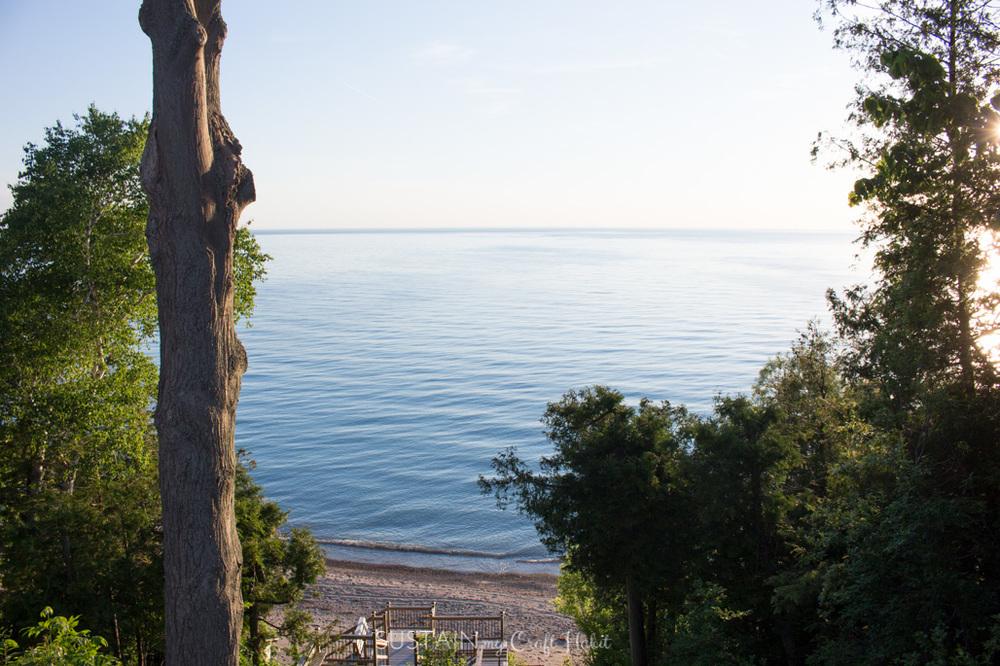 Stunning views of Lake Huron, Ontario.