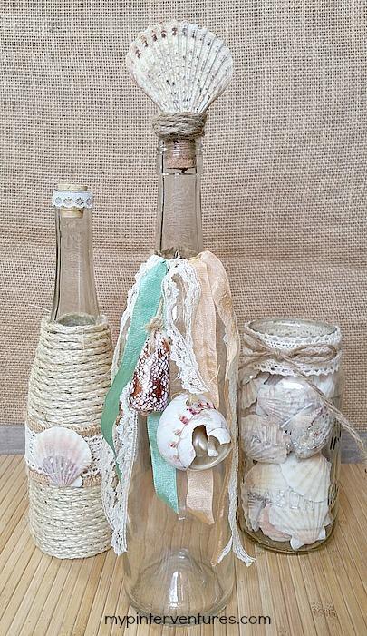 Boho inspired decorative bottles and jars by Erlene Amat