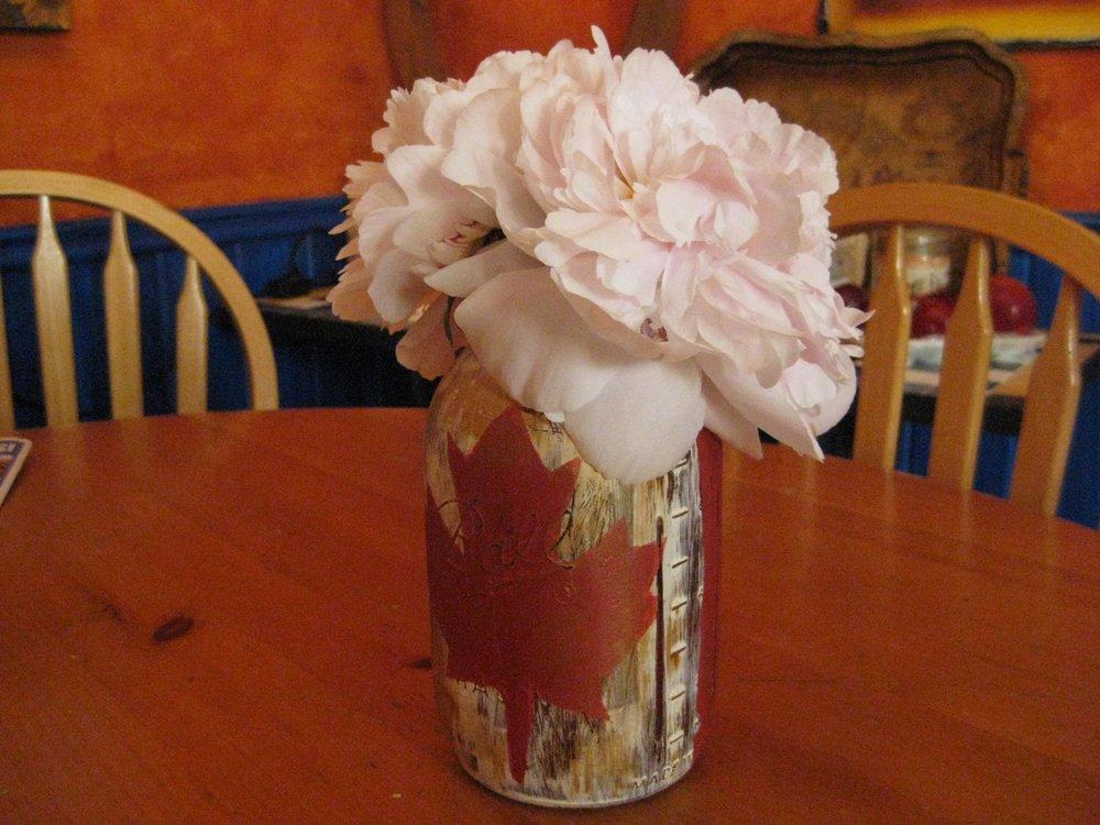 Red Maple Leaf Painted Mason Jar Charlotte Howes.jpg