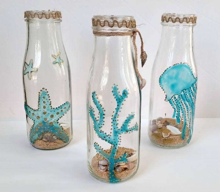 Beachy painted jars Erlene Amat My Pinventures.jpg