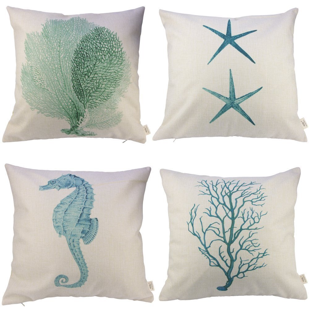 Cotton and Linen Decorative Pillow Covers