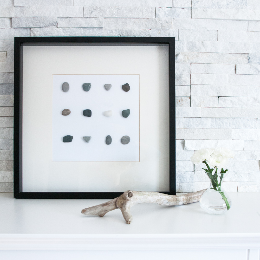 Simple DIY wall art with beach stones-0488-4.JPG