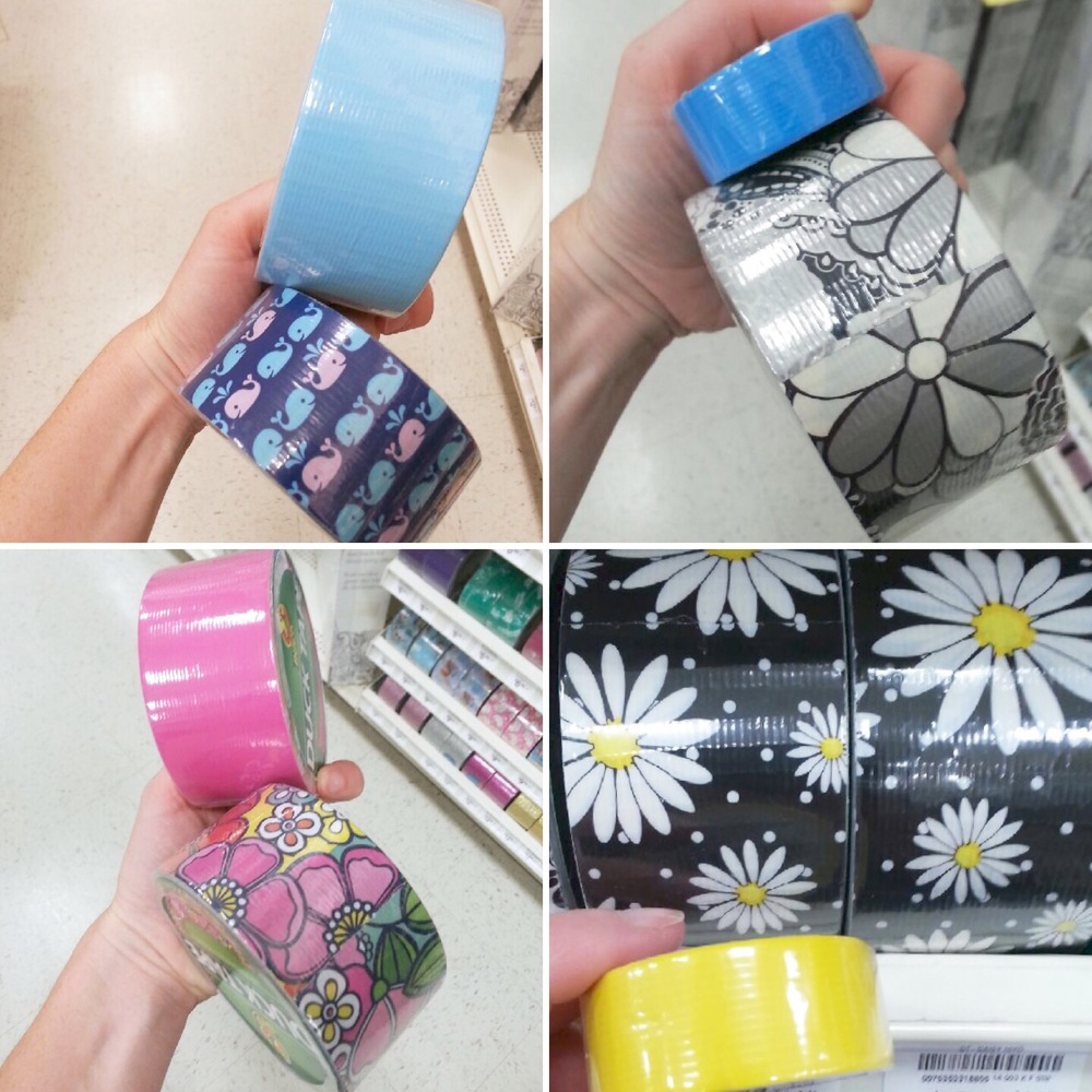 Duck tape combinations for a back to school craft idea! #DucktoSchool