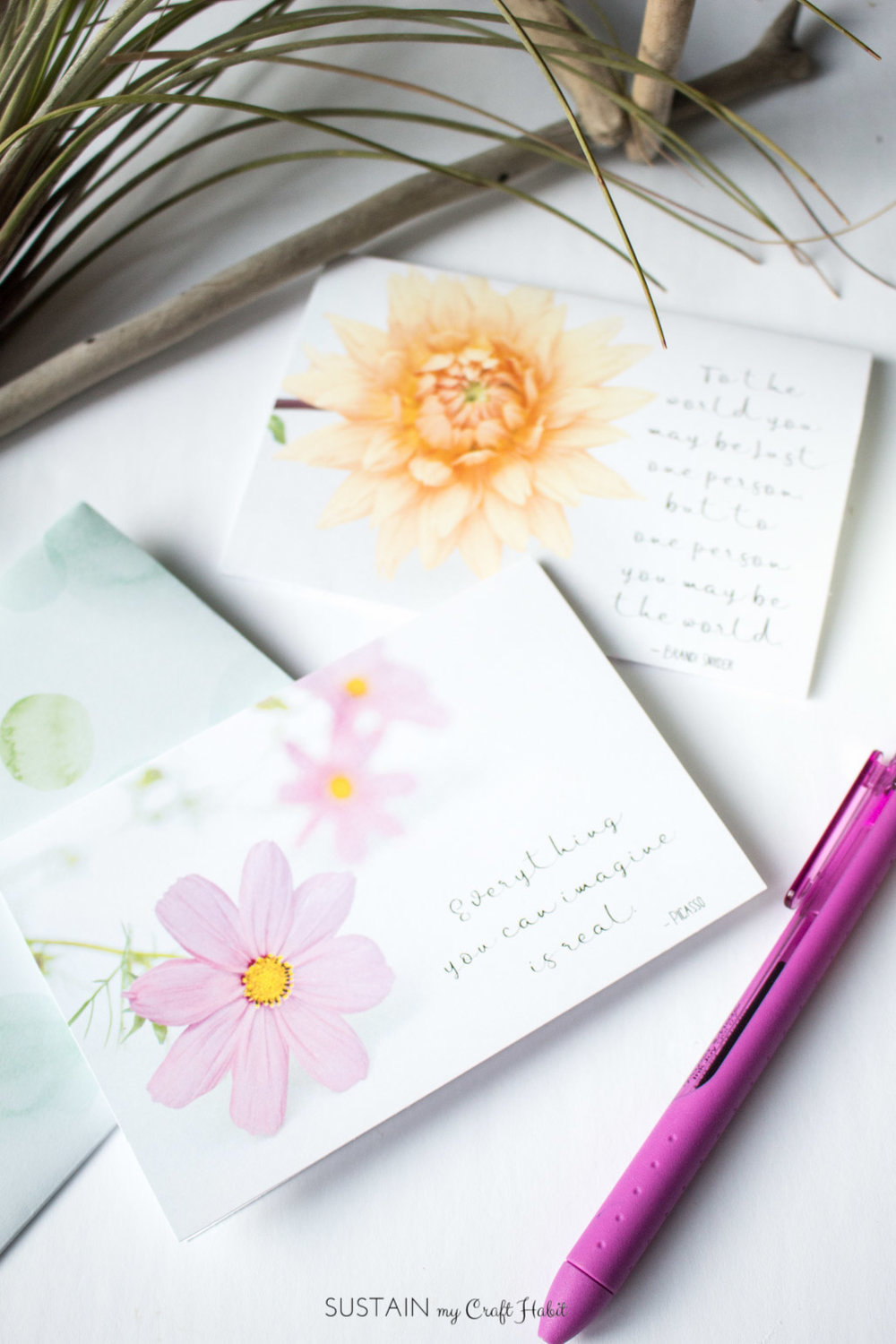 Grab your own free inspiration floral greeting cards template. Great to give for birthdays, showers or other special events or just keep for your own personal notes. Plus get a new floral card each month!