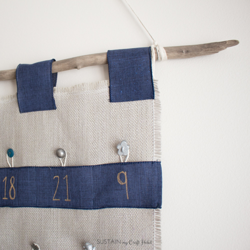 How to make an advent calendar wall hanging with driftwood.