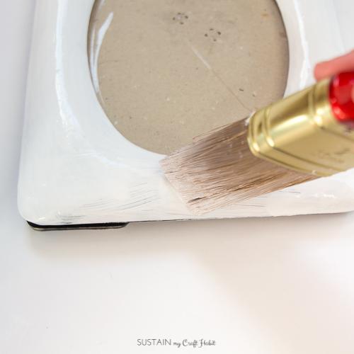 Upcycled ceramic photo frame with Americana Decor Chalky Finish paint Sustain My Craft Habit-3022.jpg