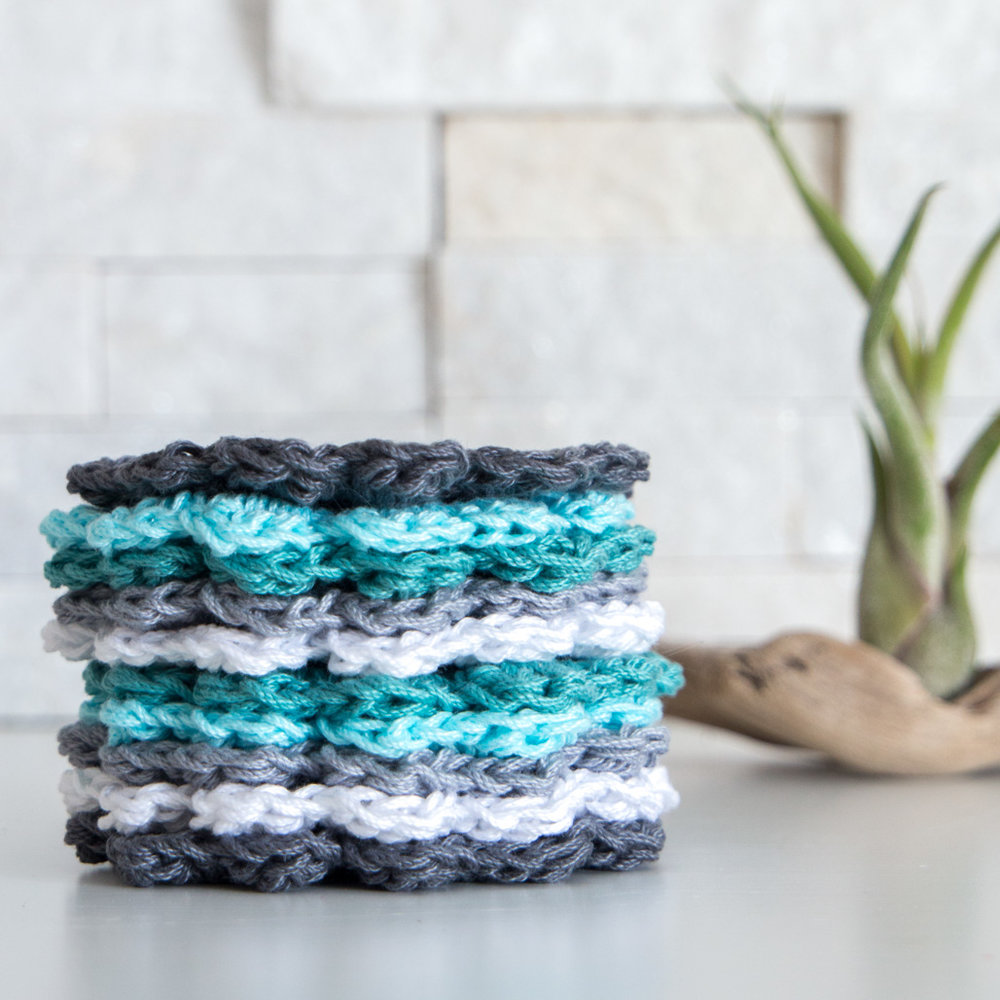 Free Easy Crochet Coaster Pattern for Beginners: Coastal ...