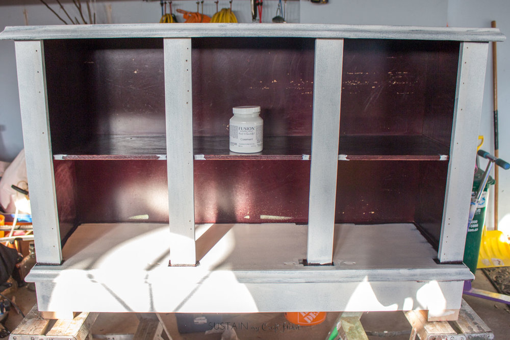 Buffet makeover to modern entertainment unit with Fusion Mineral Paint-4673.jpg