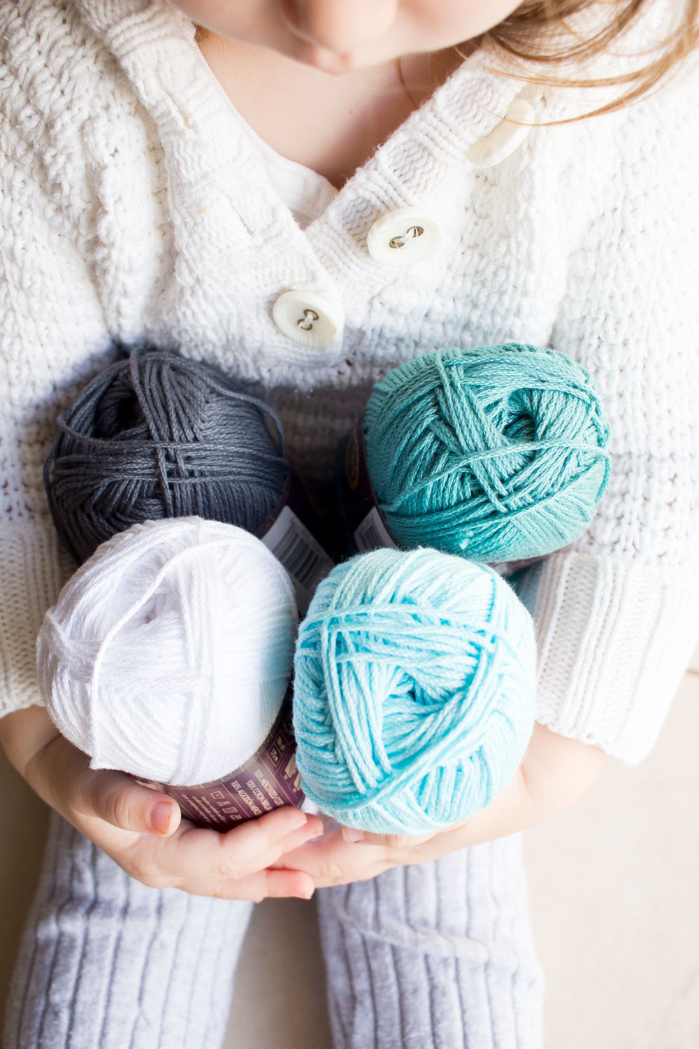 Gorgeous coastal-inspired colors of Lion Brand 24/7 Cotton Yarn #ad