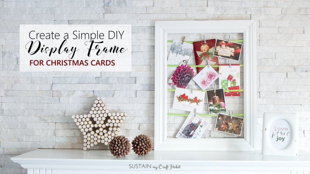 Learn how to create a simple DIY greeting card and photo display with ribbon.