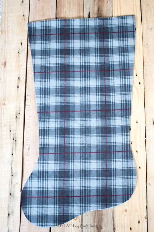 DIY flannel and upcycled knit sweater Christmas stockings-7536.jpg